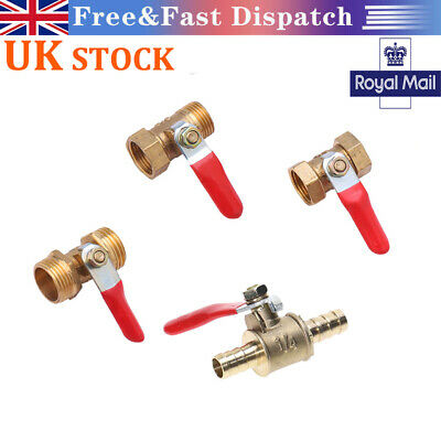 £3.58 • Buy Brass Ball Valve Lever Handle BSP Female Male Water/Air Gas Fuel Line Ball Valve