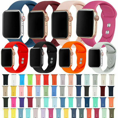 AU8.10 • Buy For Apple Watch SE IWatch Series 6 5 4 3 38/40/42/44 SILICONE Sports Strap Band