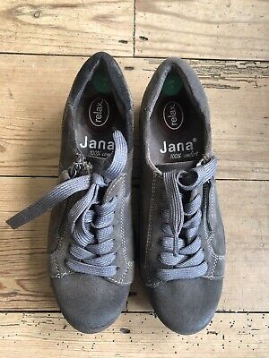 £15 • Buy Jana Relax Womens Grey Shoes Leather Comfort Size Lightly Worn Size 4
