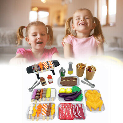 AU23.85 • Buy Barbecue Kitchen Play Set Role Pretend Game Toy Fun Play Gift For Kids 3+ 55pcs