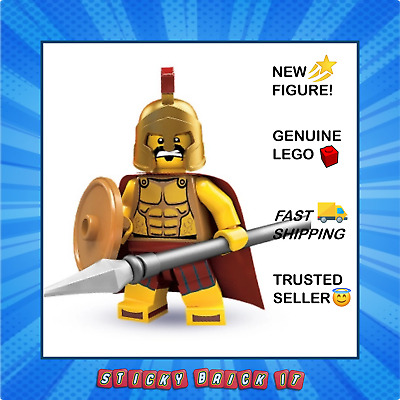 £22 • Buy NEW Lego CMF Series 2 Spartan Warrior (col02-2) Inc. Stand & Free Gift!