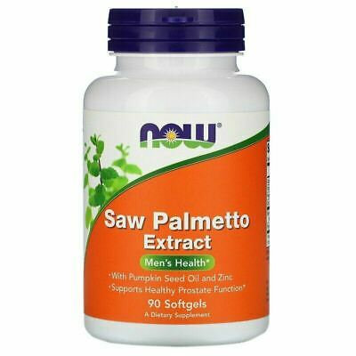 AU35.54 • Buy Now Foods Saw Palmetto Extract W/ Pumpkin Seed Oil And Zinc 160mg 90 Softgels I