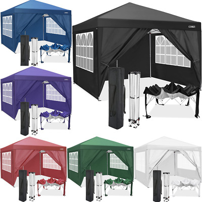 £169.89 • Buy Gazebo 3x3m Waterproof Pop Up Marquee Outdoor Event Shelter Party Tent W/4 Sides