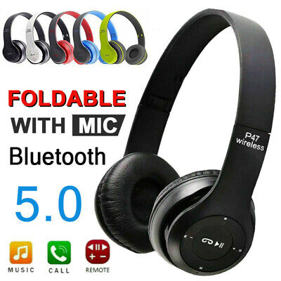 £9.99 • Buy Wireless Headphones Bluetooth Headset Noise Cancelling Over Ear With Microphone