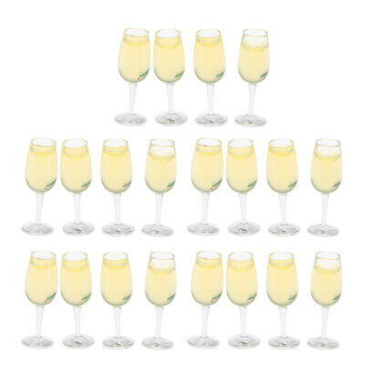£6.49 • Buy Lots 20 1/12 Scale Miniature Wine Glasses Drink Kit Dolls House Table Accs