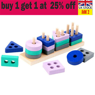 £4.62 • Buy Wooden Toys For 1 2 3 4 5 Years Lead-free Old Boys Girls Toddler Educational Sx