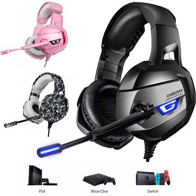 AU29.69 • Buy ONIKUMA K5 Gaming Headset Gaming Headphones For Xbox One PS4 PC Phone With Mic