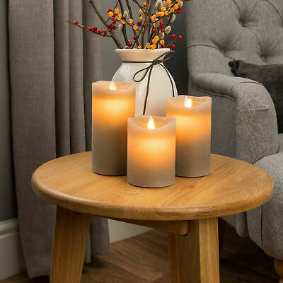 £9.99 • Buy 3Pcs Flameless Wax LED Flickering Candles Dancing Battery Operated Mood Light UK