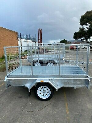 AU1600 • Buy 6x4 SINGLE AXLE HEAVY DUTY BOX TRAILER   FIXED FRONT   CHECKER PLATE   New Tyres