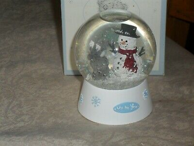 £9.50 • Buy Me To You Snow Globe - Tatty And Snowman - New In Box