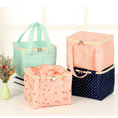 AU13.99 • Buy Adults Women Ladies Girls Portable Insulated Lunch Bag Box Picnic Tote Thermal