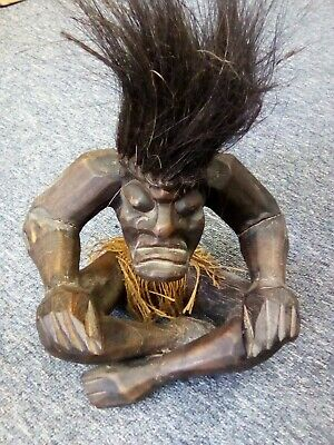 £9.50 • Buy African Large Hand Carved  Trickster Wooden Male Figure God .