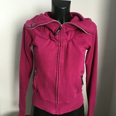 £9.97 • Buy BENCH HOODIE Womens Pink SMALL Uk 8 To 10 ZIP Up Jacket TOP Casual Soft