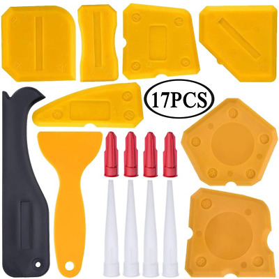 £5.24 • Buy Haquno 17 Pieces Kit Silicone Sealant Finishing Tool Grout Scraper Remover And
