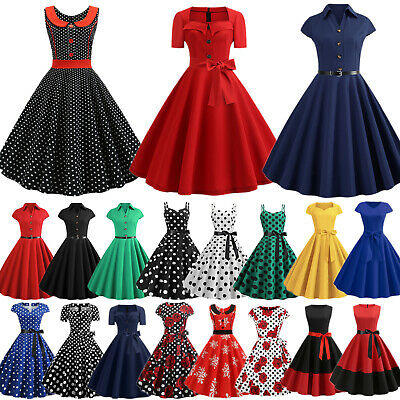 AU18.04 • Buy Womens Vintage Rockabilly Formal Dresses Evening Party Cocktail Swing Prom Gown