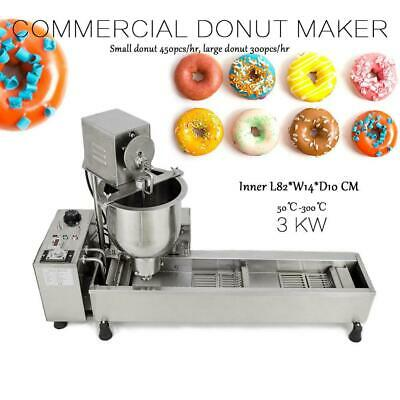 £739.99 • Buy Commercial Automatic Donut Maker Making Machine 3 Sets Mold Wide Oil Tank UK