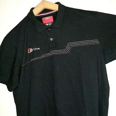 £32 • Buy AUDI S Line Mens Polo Shirt Short Sleeve Embroidered Logo Black Size:XL
