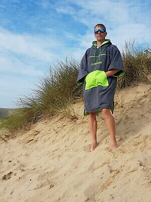 £29.99 • Buy Adults Hooded Microfiber Changing Robe Towelling Poncho For Swimming Surf Beach