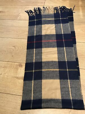 £4.50 • Buy Tartan Acrylic Scarf Blue Brown By Art Of The Scarf For Tie Rack New With Label