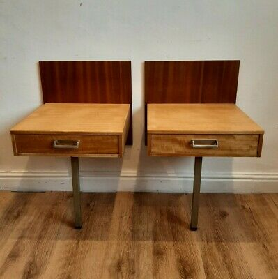 £95 • Buy E Gomme / G Plan Bedside Tables. Matching Pair. Limba