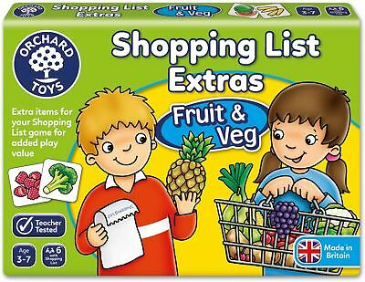 £7.79 • Buy Orchard Toys SHOPPING LIST EXTRAS FRUIT & VEG Kids Educational Game Puzzle BN