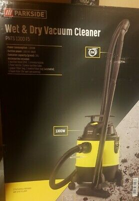 £49.99 • Buy PARKSIDE Wet And Dry Vacuum Cleaner With Attachments 1300W NEW BOXED PNTS1300 ^