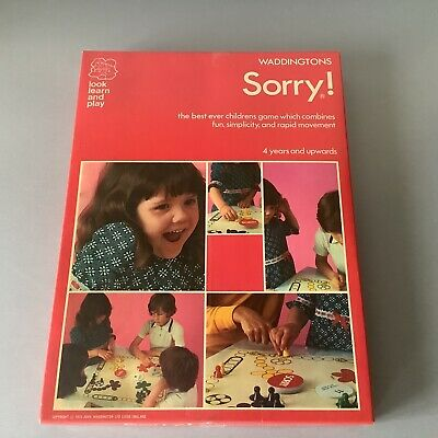 £14.95 • Buy Vintage Retro! 1973 Waddingtons SORRY! Game 100% Complete Excellent Condition!