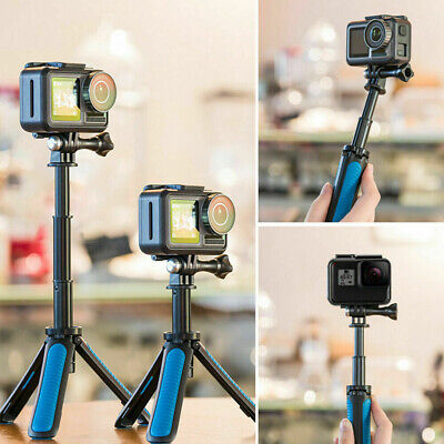 AU20.99 • Buy TELESIN Hand Grip&Tripod 2 In 1 Extendable Selfie Stick Fit For Gopro DJI Action