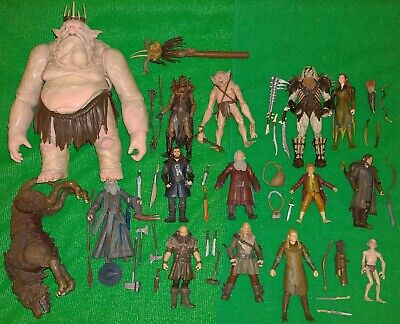 £79.99 • Buy The Hobbit X15 Figure 3.75 Lot Goblin King WARG Gandalf USED Lord Of The Rings