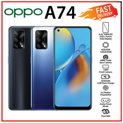 AU369 • Buy (New & Unlocked) OPPO A74 6GB+128GB Black Blue Octa Core Android Mobile Phone