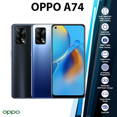 AU366 • Buy OPPO A74 Black Blue Octa Core Android 6GB+128GB Mobile Phone (New & Unlocked)