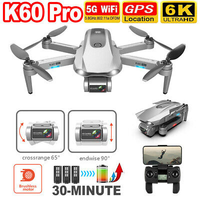AU211.84 • Buy Axis Gimbal GPS RC Drone 6k HD Dual Camera 5G WIFI Brushless FPV RC Quadcopter