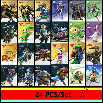AU30.99 • Buy 24PCS Zelda Breath Of The Wild NFC Amiibo Tag Game Cards For Switch Full Set