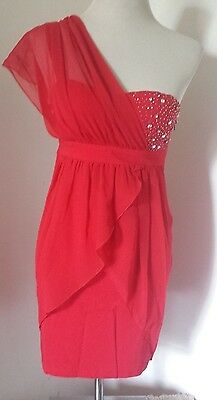 £14.99 • Buy Bnwt Stunning Ladies Size 8 Red Party Dress By Eva & Lola