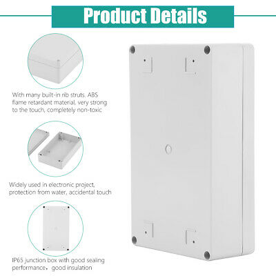 £7.92 • Buy ABS Plastic Electronics Project Box Electronic Project Enclosure Case White IP65