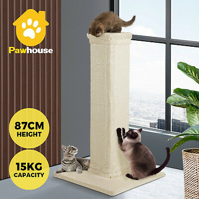 AU57.90 • Buy Cat Tree Scratching Post Pole Sisal Scratcher Tower Condo Kitty Activity Stand