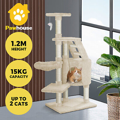 AU66.90 • Buy 1.2M Cat Trees Scratching Post Scratcher Furniture Kitty Condo Tower House Trees