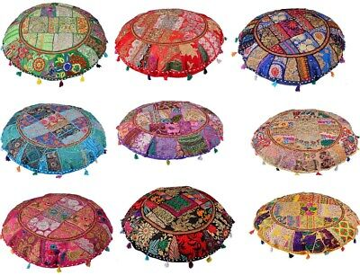 £9.99 • Buy 16x16  Round Cushion Cover Vintage Patchwork Floor Pillow Case Covers Throw