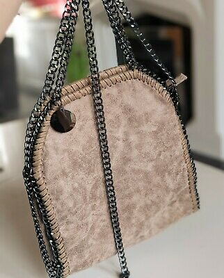 £15 • Buy Quirky Gothic Chain Shoulder Bag, New, Boutique, Faux Suede