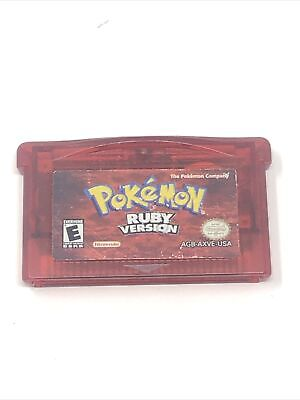 $74.95 • Buy Pokemon Ruby Version (Game Boy Advance) AUTHENTIC TESTED CARTRIDGE ONLY *SAVE*
