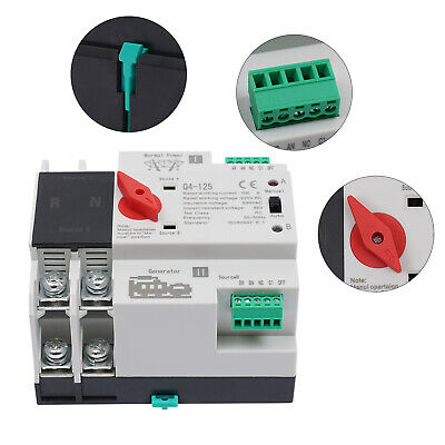 £35.01 • Buy 100Amp Changeover Switch 220V Automatic Generator Transfer  Dual Power 100A