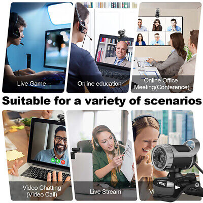 AU32.86 • Buy Universal For PC Laptop 1080P HD 360 Rotation With Microphone USB Webcam Gaming
