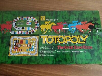 £16.99 • Buy Vintage Totopoly 1978 Board Game Horse Race Racing Waddingtons Complete