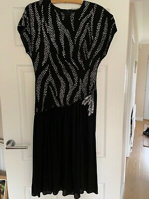 £4 • Buy Ballroom/ Cocktail Black And Sequin Detail Dress