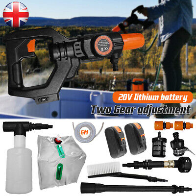 £75.99 • Buy Portable Cordless Electric Pressure Washer Water Jet Wash Car Cleaner +2 Battery