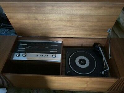 £150 • Buy HMV Radio Gram / Record Player, Vintage / Antique, Housed In A Wooden Cabinet