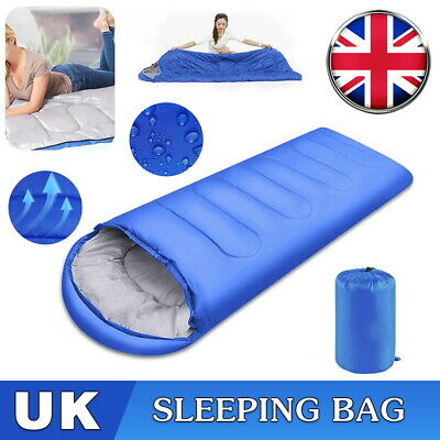 £14.99 • Buy Blue Envelope Sleeping Bag Portable Warm For Outdoor Camping Hiking Traveling