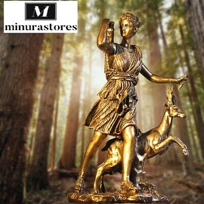 £43.88 • Buy  Creative Resin Statue Of The Greek Hunting Goddess Diana. For Home Decoration