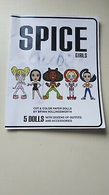 £7 • Buy Spice Girls Cut Out& Colour Paper Dolls By Brian Hollingsworth