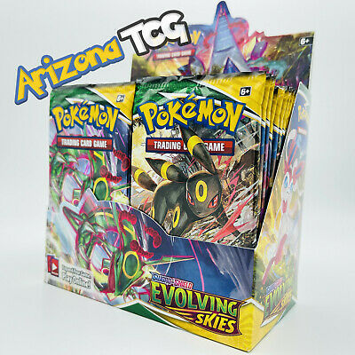 $67.99 • Buy 10 Evolving Skies Booster Pack Lot - From Factory Sealed Pokemon Booster Box
